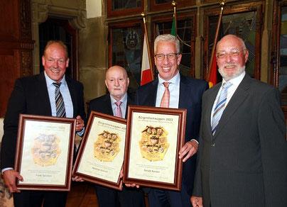 Hermann Weßlau (Vorsitzender VDUBV), Robert Philipps, Rainer Kreh, Dr. Joachim K. Bonn (Foto: H. Pischke)