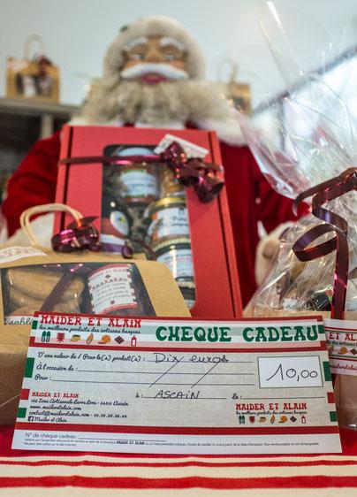 Epicerie fine pays basque chèque cadeaux Maider et Alain
