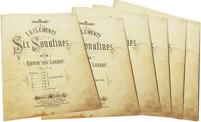 Сонатины Клементи, ноты для фортепиано