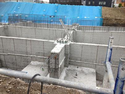 多治見駅周辺がアツい!多治見駅北には、立体駐車場が。基礎工事が進められています