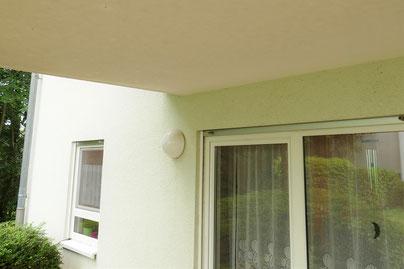 Durchlaufende Balkonplatte aus Beton ohne thermische Trennung.