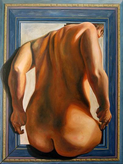 Enmarcada  2007, óleo sobre lienzo 122X91.5 cm