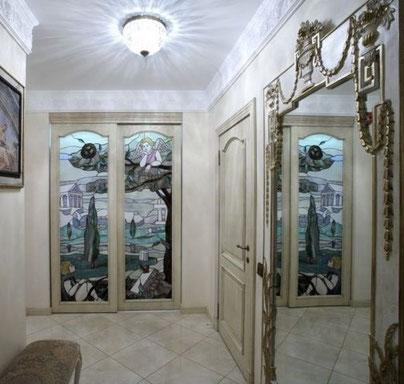 Дизайн интерьеров квартиры в дворцовом стиле. Холл в квартире на ул. Бассейной