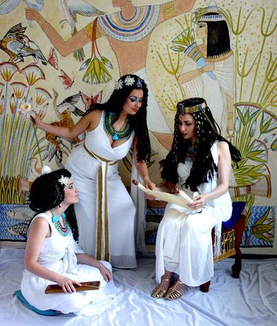 Im Reich der Pharaonen, ägyptische Spielszene, Photo: Rainer Hannig