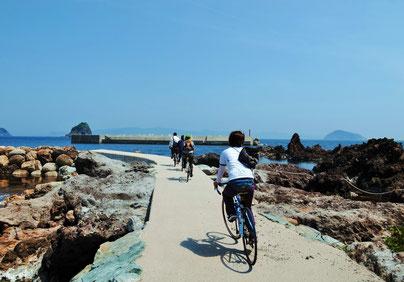 海士チャリ 海の散歩道