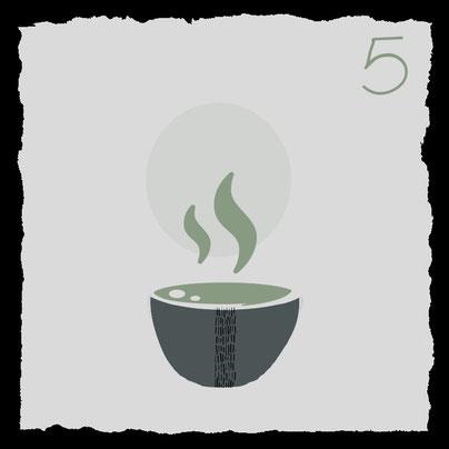 Zubehoer fuer die traditionelle Zubereitung von Matcha-Tee, tee genießen
