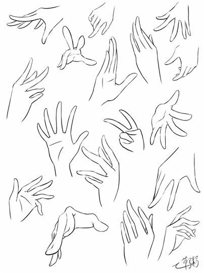 女のコらしい手のポーズ集と描き方 その2 しがない絵描きのイラスト