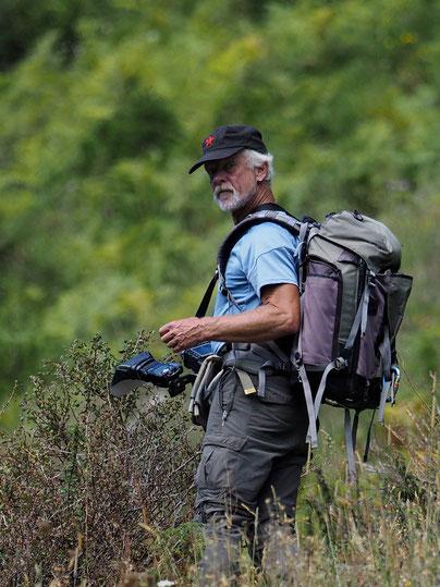 Beim Fotografieren eines Helmbasilisken in Costa Rica