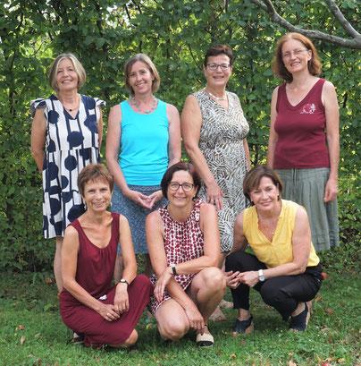 Andrea, Ida, Anita, Gabi, Barbara, Manuela, Irmgard, Beate (v. links)