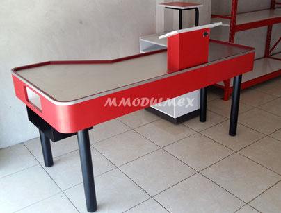 Muebles de caja tipo check Out; para mini súper, tiendas de abarrotes, súper mercados, tiendas departamentales, etc