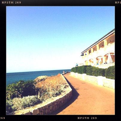 Strandpromenade Cala Ratjada Cala Agulla #mar #hipstamatic