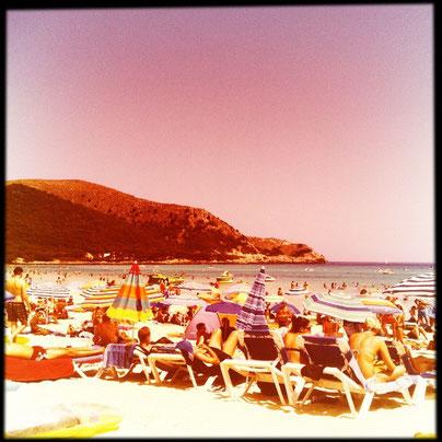 Der hippe Strand von Cala Ratjada Mallorca Cala Agulla #hipstamatic