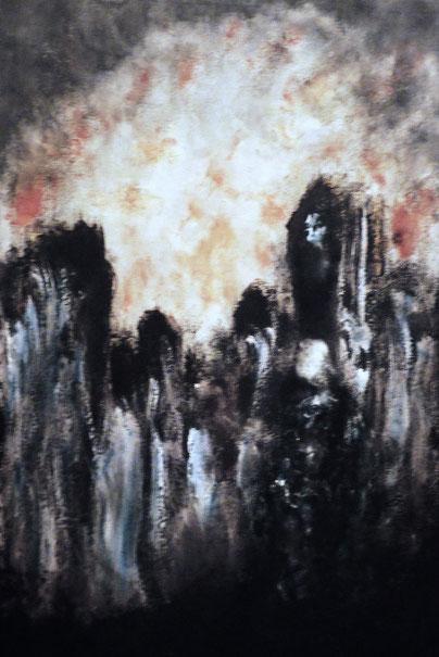 Toteminsel, Öl auf Leinwand, 80x70, 2011