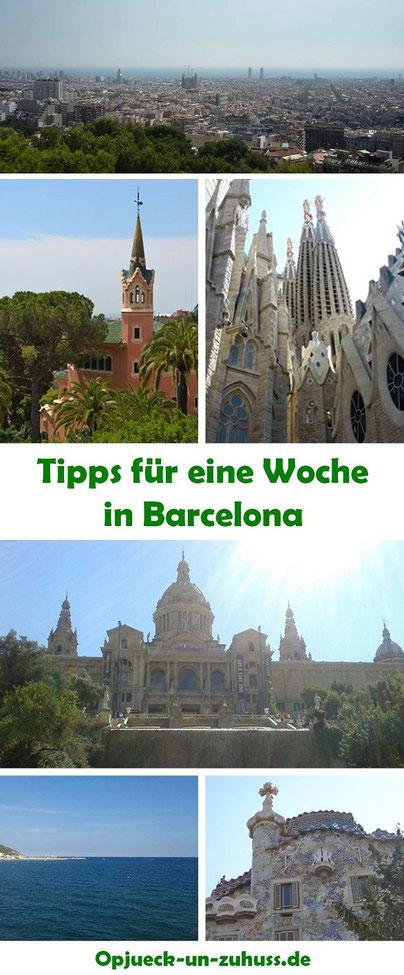 Barcelona Tipps für eine Woche