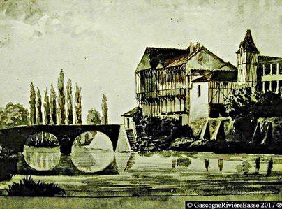 Peintre Paul Lacave Laplagne tableau 1858 Plaisance du gers