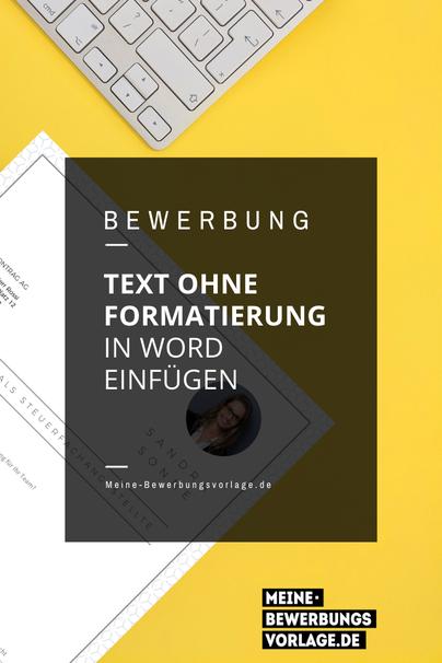 Text ohne Formatierung einfügen
