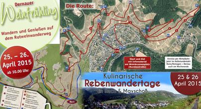 Rebenwandertage in Rech und Mayschoß, sowie Dernauer Weinfrühling