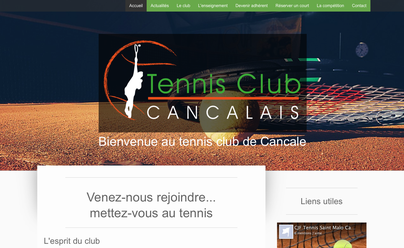Site internet TC Cancalais - Logo&Co Communication Cancale