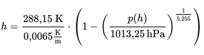 International Barometric Formula