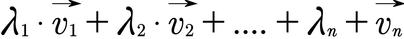 Allgemeines Beispiel für eine Linearkombination
