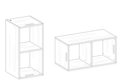 room³ Regal zum Stellen, Legen oder Stapeln