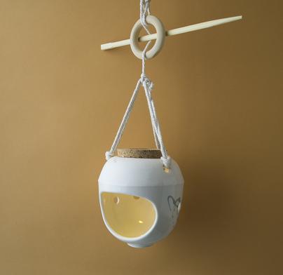 Lampe, veilleuse, suspendue, blanc