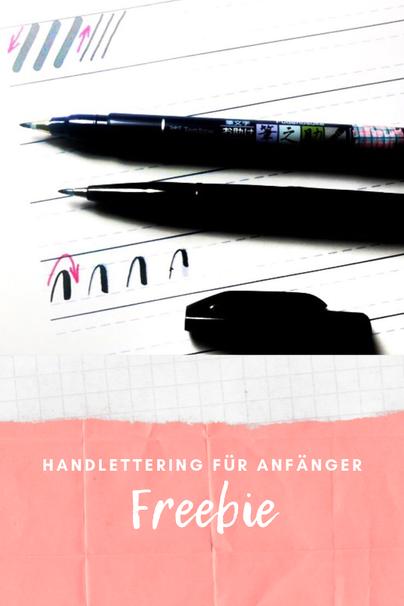 kostenloses Übungsblatt Handlettering Schwungübungen