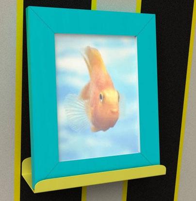 étagère murale design couleur jaune by piedtable.fr
