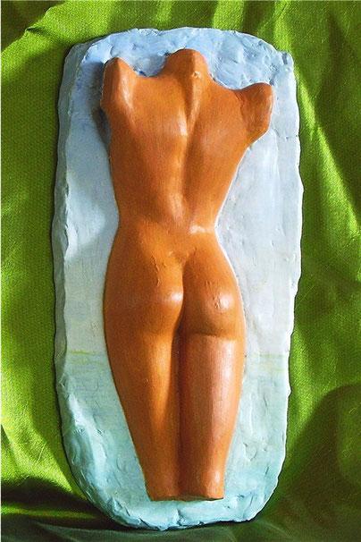 moulage platre d'aphrodite... vue de dos , sculpture nu féminin