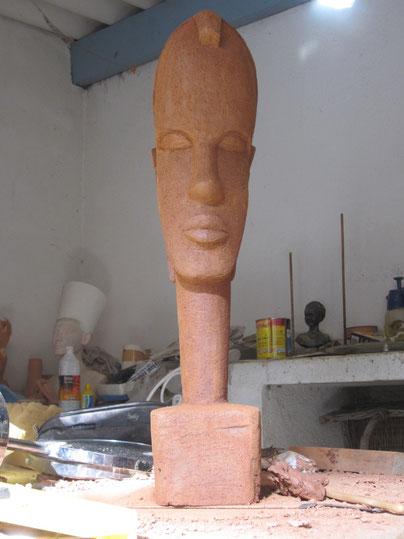 Tête Africaine sculpture argile 2014.nouveausculpteur