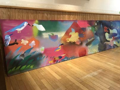 ●林香君:クリエイティブ・レインボープロジェクト。子供たちと創った壁画(2020/3)