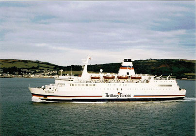 Quiberon arriving in Plymouth from Roscoff.