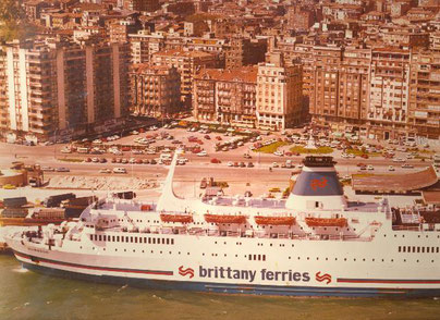 Quiberon berthed in Santander.