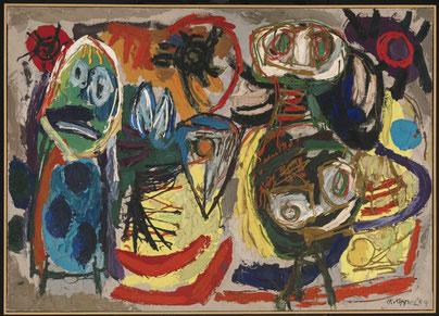 People, Birds and Sun, Karel Appel, 1954