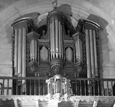 Orgel der Iglesia de Santo Domingo de Sanlúcar de Barrameda, deren Hauptgehäuse möglicherweise auf Jan van den Panhuysen (1657) zurückzuführen ist.