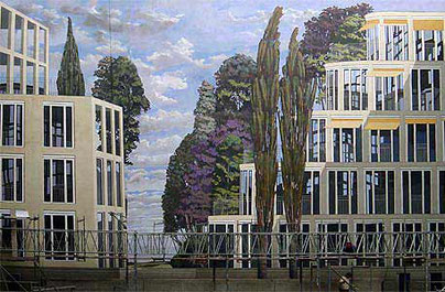 Gert Neuhaus Wandbild/Mural Stuttgarter Hof