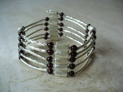 bijou magnétique barrettes argentées torsadées