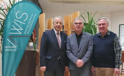 Der neue Vorstand (vlnr): Dr. Adolf Rausch (Finanzen), Reinhard Huber (Geschäftsführer), Dkfm. Manfred Muchar (Stellvertreter)