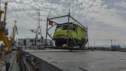 Verschiffung Robur LO Wohnmobil Iran Bandar-e-Anzali nach Kazachstan Aktau