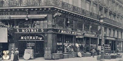 avenue of the opera Paris trunk moynat 1849