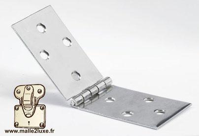Charnière universelle Hettich : 30 mm x 80 mm fabrication d'une malle sure mesure