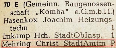 Geiststraße 70 - Einwohnerbuch 1966