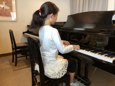 宮崎のハマダ音楽教室のレッスン風景