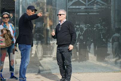 """Martin Scorsese,  lors du  remake de """"Sortie d'Usine"""" - Festival Lumière 2015- Photo © Anik Couble"""