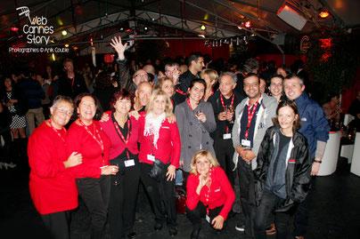 Les bénévoles du Festival Lumiere à Lyon, en octobre 2013