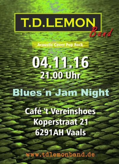 T.D. Lemon Band Plakat Wild Rover Aachen Frank Denhard