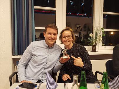 Stolze Sieger: Leibold und Busch vom TSV