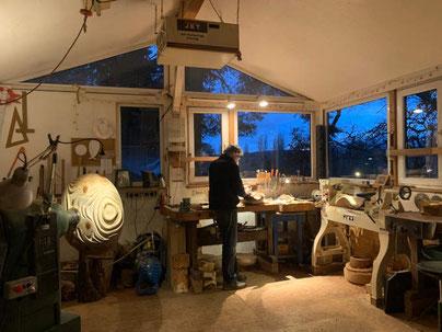 Thomas Pildner in der Werkstatt