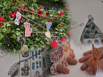 Photomontage pour représenter l'accès à la rubrique des goodies offerts par l'illustratrice Cloé Perrotin