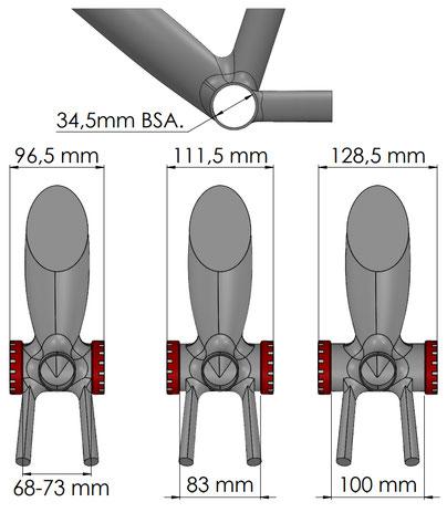 Boitier BSA messures du cadre seul.